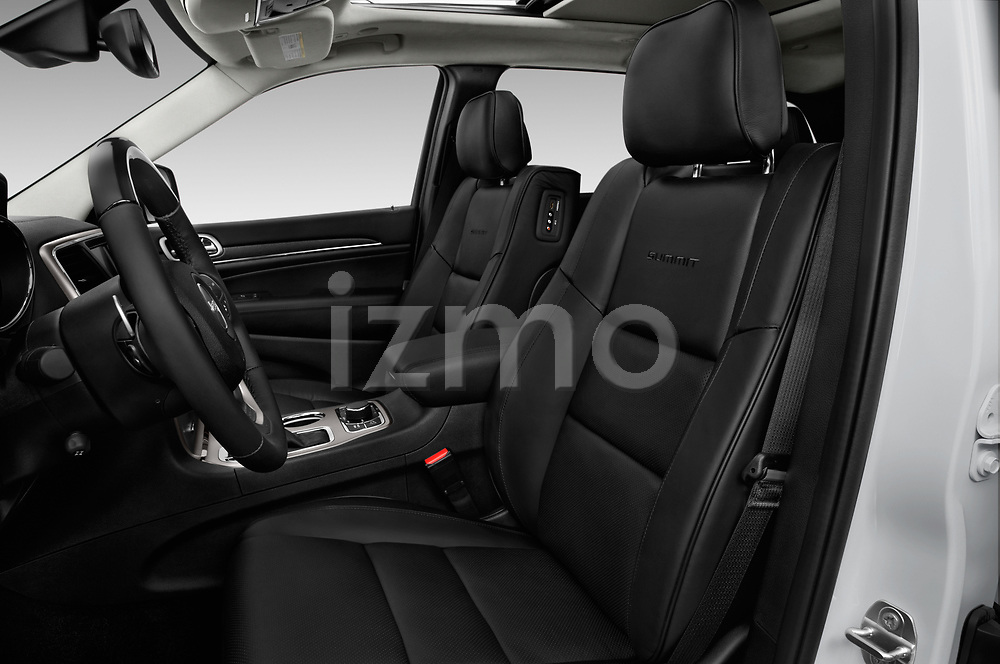 Front seat view of 2017 JEEP Grand-Cherokee Summit 5 Door SUV Front Seat  car photos