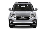 Car photography straight front view of a 2019 Honda Pilot Touring 5 Door SUV