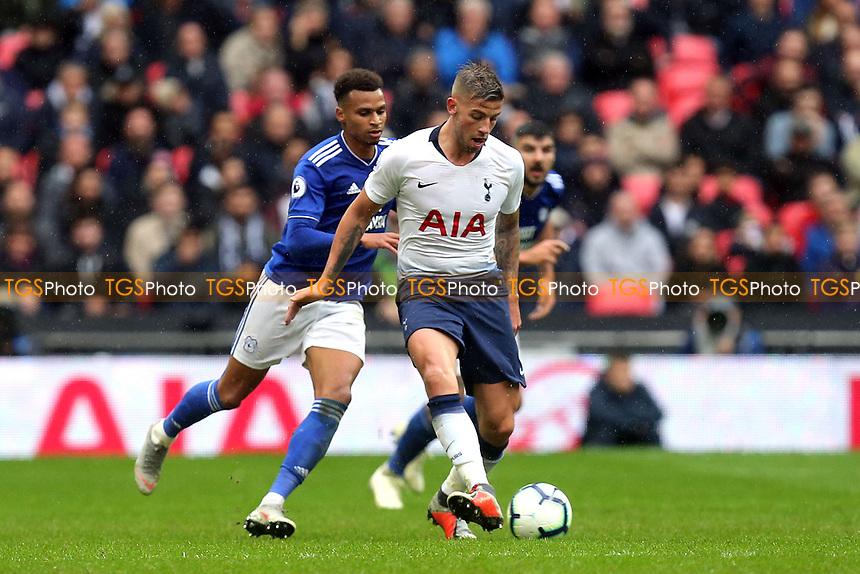 Toby Alderweireld of Tottenham Hotspur during Tottenham Hotspur vs Cardiff City, Premier League Football at Wembley Stadium on 6th October 2018