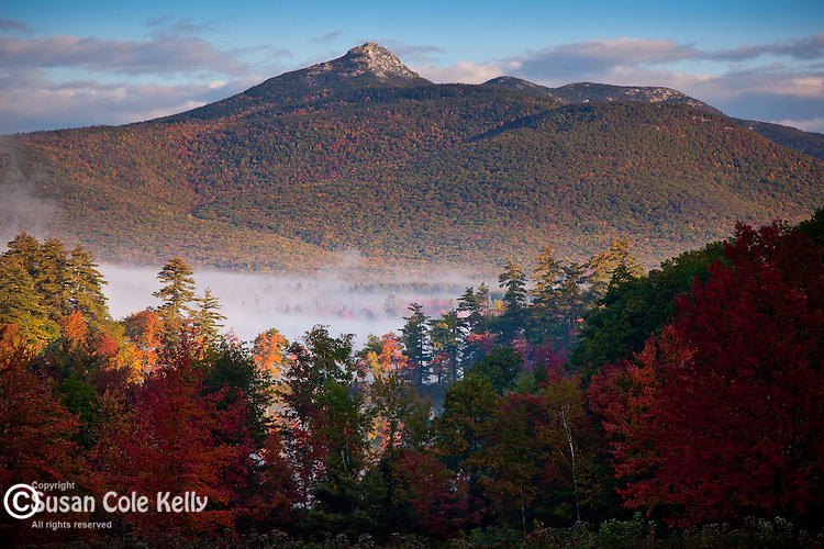 Fall foliage on Mount Chocorua in Tamworth, White Mountains, NH, USA