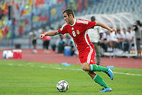 Hungary's Andras Simon (8) moves the ball out of the Ghana goal zone during the FIFA Under 20 World Cup Semi-final match at the Cairo International Stadium in Cairo, Egypt, on October 13, 2009. Costa Rica won the match 1-2 in overtime play. Ghana won the match 3-2.