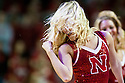 February 23, 2014: Nebraska Cornhusker Scarlets dance team member during a time out in the game against the Purdue Boilermakers at the Pinnacle Bank Arena, Lincoln, NE. Nebraska 76 Purdue 57.