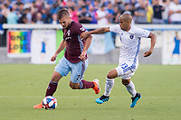 SAN JOSÉ CA - JULY 27: Diego Rubio #7, Judson #93 during a Major League Soccer (MLS) match between the San Jose Earthquakes and the Colorado Rapids on July 27, 2019 at Avaya Stadium in San José, California.