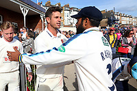 Winning Essex skipper Ryan ten Doeschate thanks the Yorkshire players during Yorkshire CCC vs Essex CCC, Specsavers County Championship Division 1 Cricket at Scarborough CC, North Marine Road on 7th August 2017
