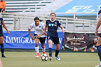 Cary, North Carolina  - Saturday July 01, 2017: McCall Zerboni during a regular season National Women's Soccer League (NWSL) match between the North Carolina Courage and the Sky Blue FC at Sahlen's Stadium at WakeMed Soccer Park. Sky Blue FC won the game 1-0.