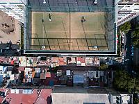 Family in Nuevo Polanco, aerial drone photography/footage, Mexico City, Mexico