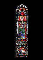 David and Saul, king and high priest of the Old Testament, lancet window, North Rose window, circa 1230, Chartres Cathedral, Eure et Loir, France. Picture by Manuel Cohen