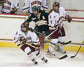 Kristina Brown (BC - 2), Peggy Wakeham (Vermont - 14), Danielle Welch (BC - 17) - The University of Vermont Catamounts defeated the Boston College Eagles 5-1 on Saturday, November 7, 2009, at Conte Forum in Chestnut Hill, Massachusetts.