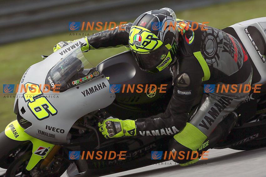 .07-02-2013 Kuala Lumpur (MAL).Motogp world championship.in the picture: Valentino Rossi - Yamaha factory team .Foto Semedia/Insidefoto.ITALY ONLY