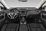 Stock photo of straight dashboard view of a 2014 Nissan X-TRAIL Tenka 5 Door SUV 2WD Dashboard