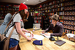 CORAL GABLES, FL - FEBRUARY 05: Actor/author Keegan Allen meets, greets fans and signs copies of his book 'Life. Love. Beauty' at Books and Books on Thursday February 5, 2015 in Coral Gables, Florida. (Photo by Johnny Louis/jlnphotography.com)