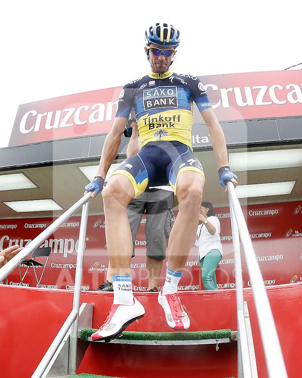 Alberto Contador during the stage of La Vuelta 2012 between Barakaldo and Valdezcaray.August 21,2012. (ALTERPHOTOS/Acero)