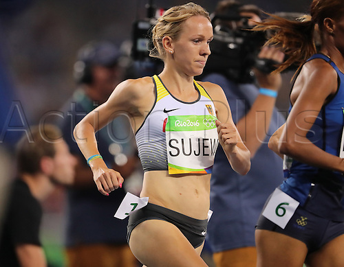 14.08.2016. Rio de Janeiro, Brazil. Diana Sujew of Germany competes in Women's 1500m Semifinals of the Athletic, Track and Field events during the Rio 2016 Olympic Games at Olympic Stadium in Rio de Janeiro, Brazil, 14 August 2016.