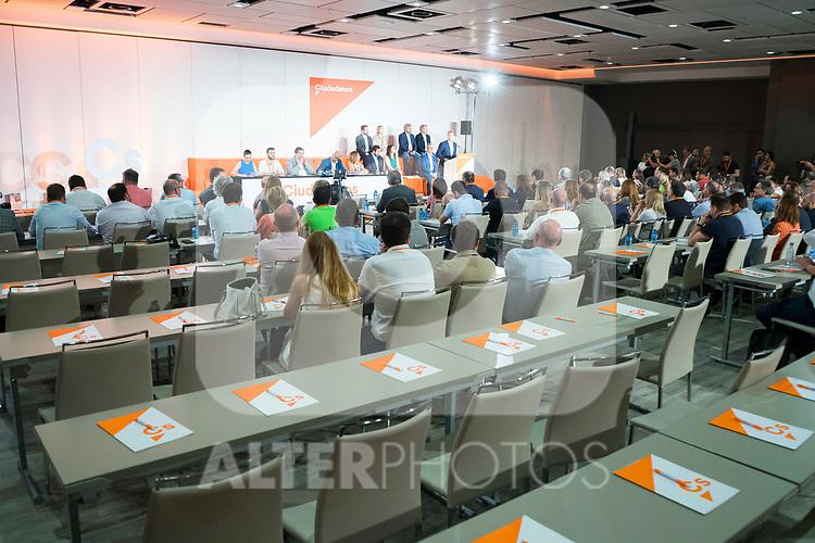 Empty chairs during Ciudadanos General Council. July 29, 2019. (ALTERPHOTOS/Francis González)