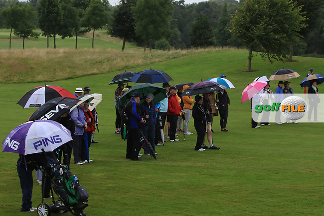 Part of the support at the 14th green during the Final of the Irish Mixed Foursomes Leinster Final at Millicent Golf Club, Clane, Co. Kildare. 06/08/2017<br /> Picture: Golffile | Thos Caffrey<br /> <br /> <br /> All photo usage must carry mandatory copyright credit     (&copy; Golffile | Thos Caffrey)