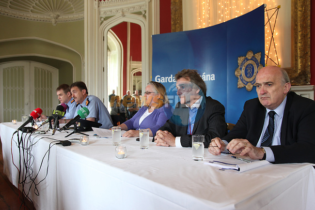Lord Henry Mt Charles speaking at the garda press conference ahead of the concert in Slane castle on Saturday..Pic: Fran Caffrey/www.newsfile.ie
