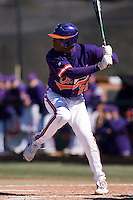 Right fielder Chris Epps (26) of the Clemson Tigers at bat versus the Wake Forest Demon Deacons during the second game of a double header at Gene Hooks Stadium in Winston-Salem, NC, Sunday, March 9, 2008.