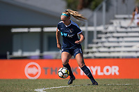 Sanford, FL - Saturday Oct. 14, 2017:  A Courage player during a US Soccer Girls' Development Academy match between Orlando Pride and NC Courage at Seminole Soccer Complex. The Courage defeated the Pride 3-1.
