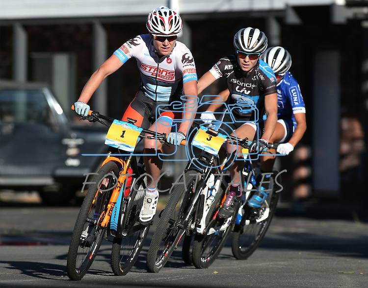 Riders participate in the Epic Rides Carson City Off-Road women&rsquo;s Pro Criterium in Carson City, Nev., on Friday, June 17, 2016.<br />Photo by Cathleen Allison