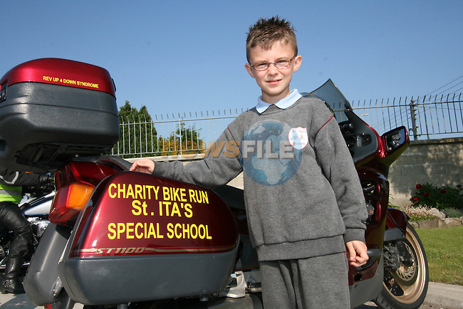 Dylan McKenna at the Start of the Run of the Country Motorcycle Run at St.Itas School...Photo NEWSFILE/Jenny Matthews.(Photo credit should read Jenny Matthews/NEWSFILE)....This Picture has been sent you under the condtions enclosed by:.Newsfile Ltd..The Studio,.Millmount Abbey,.Drogheda,.Co Meath..Ireland..Tel: +353(0)41-9871240.Fax: +353(0)41-9871260.GSM: +353(0)86-2500958.email: pictures@newsfile.ie.www.newsfile.ie.FTP: 193.120.102.198.