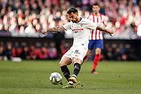 7th March 2020; Wanda Metropolitano Stadium, Madrid, Spain; La Liga Football, Atletico de Madrid versus Sevilla; Suso (Sevilla FC)  in action during the match