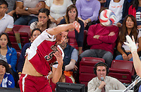 STANFORD, CA - Saturday, April 14, 2012: Stanford Men's Volleyball vs UCLA Maples Pavilion.  Stanford won 25-18, 25-21, 25-18.