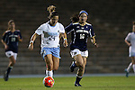 22 October 2015: North Carolina's Paige Nielsen (24) and Notre Dame's Sandra Yu (16). The University of North Carolina Tar Heels hosted the Notre Dame University Fighting Irish at Fetzer Field in Chapel Hill, NC in a 2015 NCAA Division I Women's Soccer game. UNC won the game 2-1.