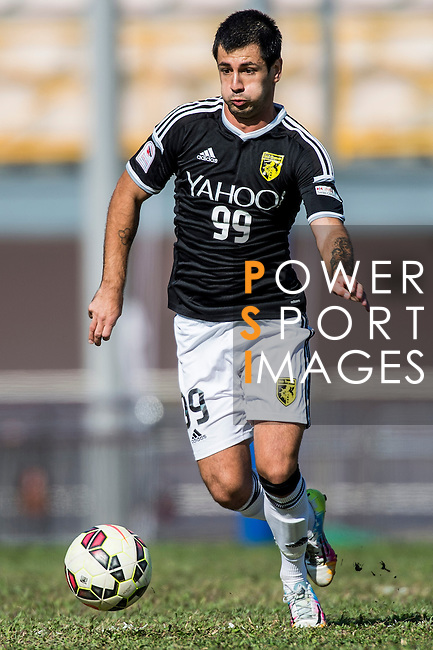 Aleksandar Randelovic of Sun Pegasus FC in action during the HKFA Premier League between Wofoo Tai Po vs Sun Pegasus at the Tai Po Sports Ground on 22 November 2014 in Hong Kong, China. Photo by Aitor Alcalde / Power Sport Images