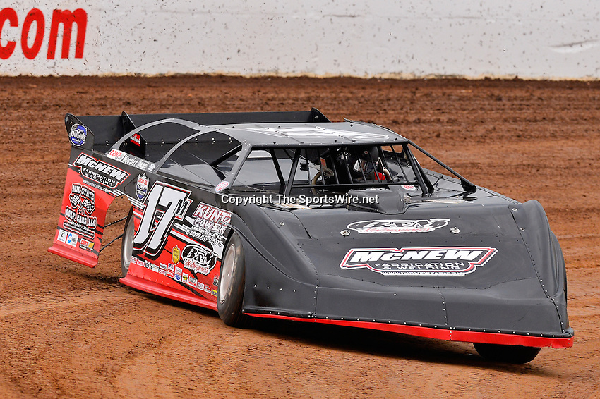 May 22, 2014; 5:55:22 PM; Wheatland, Mo., USA; The  Lucas Oil Late Model Dirt Series running the 22nd Annual Lucas Oil Show-Me 100 Presented by ProtectTheHarvest.com.  Mandatory Credit: (thesportswire.net)