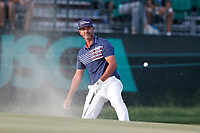 Scott Piercy (USA) hits out of a sand trap on the 17th hole during the third round of the 118th U.S. Open Championship at Shinnecock Hills Golf Club in Southampton, NY, USA. 16th June 2018.<br /> Picture: Golffile | Brian Spurlock<br /> <br /> <br /> All photo usage must carry mandatory copyright credit (&copy; Golffile | Brian Spurlock)