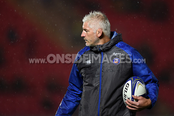 Bath Director of Rugby Todd Blackadder looks on during the pre-match warm-up. European Rugby Champions Cup match, between the Scarlets and Bath Rugby on October 20, 2017 at Parc y Scarlets in Llanelli, Wales. Photo by: Patrick Khachfe / Onside Images