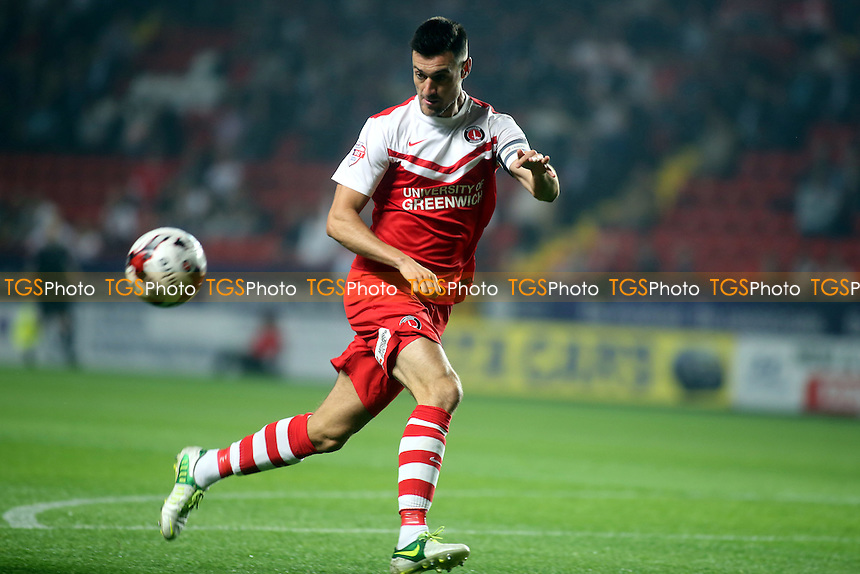 Johnnie Jackson of Charlton - Charlton Athletic vs Wolverhampton Wanderers - Sky Bet Championship Football at the Valley, Charlton, London- 16/09/14 - MANDATORY CREDIT: Paul Dennis/TGSPHOTO - Self billing applies where appropriate - contact@tgsphoto.co.uk - NO UNPAID USE