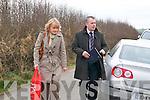 Murder Scene :Pathologist Margot Bolster & Det Insp Dan Keane arriving at the scene.