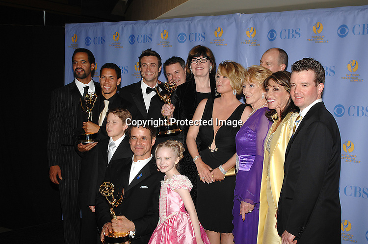 Young and Restless cast and crew for Best Show..posing for photographers in the Press Room at The 34th Annual Daytime Emmy Awards on June 15,2007 at The ..Kodak Theatre in Hollywood, California. ..Robin Platzer, Twin Images......212-935-0770