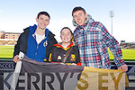 Pictured at the Dr Crokes match in Portlaoise on Saturday, from left: Diarmuid Galvin, Sarah Burns and Laurence Burns, from Killarney..