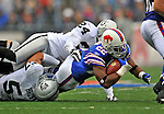 21 September 2008: Buffalo Bills' running back Fred Jackson gains 6 yards for a first down in the third quarter against the Oakland Raiders at Ralph Wilson Stadium in Orchard Park, NY. The Bills rallied for 10 unanswered points in the 4th quarter to defeat the Raiders 24-23 marking their first 3-0 start of the season since 1992...Mandatory Photo Credit: Ed Wolfstein Photo