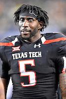 Texas Tech defensive lineman Gary Moore (5) during an NCAA Football game, Saturday, November 29, 2014 in Arlington, Tex. Baylor defeated Texas Tech 48-46. (Mo Khursheed/TFV Media via AP Images)