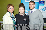 Anne and Fiona Tangney pictured with Killian Young at the Killarney Community College career evening on Thursday evening.............................................................................