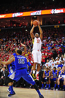 Dez Wells of the Terrapins pulls up for a jumper. Maryland defeated Duke 81-83 at the Comcast Center in College Park, MD on Saturday, February 16, 2013. Alan P. Santos/DC Sports Box