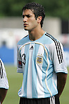 06 July 2007: Argentina's German Voboril, pregame. Argentina's Under-20 Men's National Team defeated North Korea's Under-20 Men's National Team 1-0 in a Group E opening round match at Frank Clair Stadium in Ottawa, Ontario, Canada during the FIFA U-20 World Cup Canada 2007 tournament.