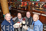 Celebrating the Budget cuts on Drink on Wednesday were David Condon, Aidan Teehan, The Grand Htel, Sylvester O'Shea, and Der O'Sullivan, The Mall Tavern.