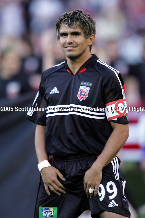 21 May 2005: DC United's Jaime Moreno, pregame. DC United defeated the Kansas City Wizards 3-2 at RFK Stadium in Washington, DC in a regular season Major League Soccer game. .