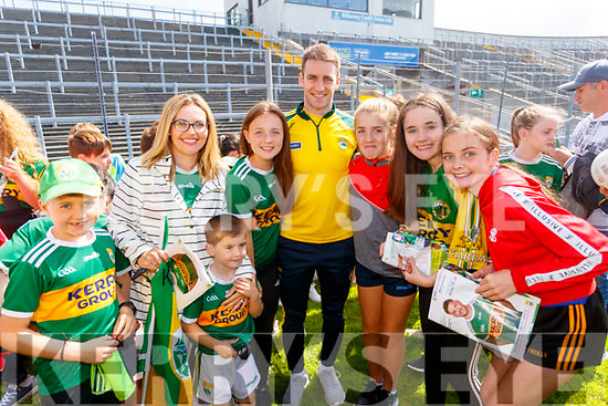 Stephen O'Brien with fans at the Kerry GAA Open Day Meet and Greet, at Fitzgerald Stadium, Killarney on Saturday last.