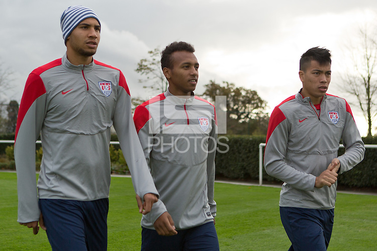 London, UK. - Wednesday, November 12, 2014: U.S. Men's National Team Training at Tottenham Hotspur Training Centre.