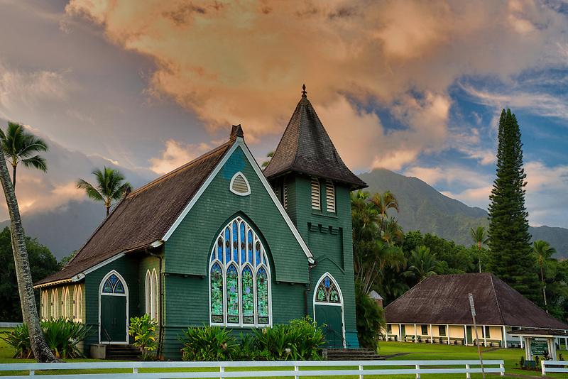 Wai Oli Huiia Church. Hanalei, Kauai, Hawaii
