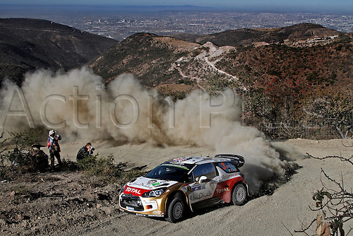 06.03.2014. GUANAJUATO, Mexico. The World Rally Championships (WRC) of Mexico.  Kris Meeke (IRL) and Paul Nagle (GB) - Citroen DS3 WRC