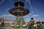 Fountain of River Commerce and Navigation in Place de la Concorde. Paris. France