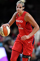 Washington, DC - August 25, 2019: Washington Mystics forward Elena Delle Donne (11) drives to the basket during second half action of game between the New York Liberty and the Washington Mystics at the Entertainment and Sports Arena in Washington, DC. The Mystics defeated New York 101-72. (Photo by Phil Peters/Media Images International)
