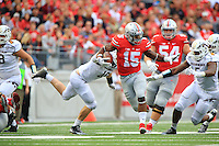 The Ohio State University Football team defeat Western Michigan University, 38-12. Columbus, OH. September 26, 2015<br /> Photo by; Walt Middleton