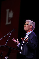 April 22 , 2014 - Plenary Keynote speaker Jim Carr, president of the Business Council of Manitoba,<br />at the Liberal Biennial Convention in Montreal.<br /><br /><br /><br />Photo : (c) Pierre Roussel - Images Distribution